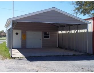 Carport   Vertical Roof   20W x 26L x 8H Utility