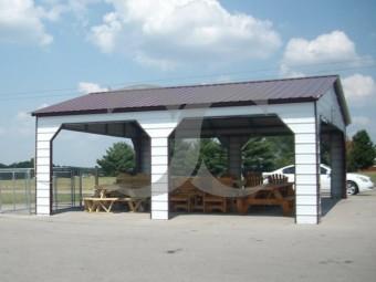 Carport | Vertical Roof | 24W x 26L x 9H` | Pavilion Carport