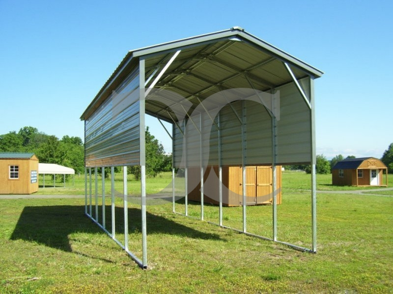 Vertical Roof Metal Carport : Carport vertical roof w l h metal rv