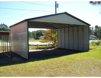 Carport | Vertical Roof | 30W x 26L x 10H Triple-Wide