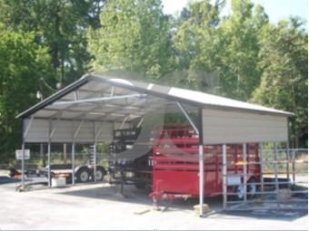 Carport | Vertical Roof | 26W x 21L x 8H Triple-Wide
