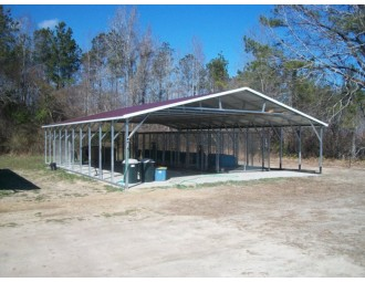Carport   Vertical Roof   30W x 41L x 6H Triple-Wide