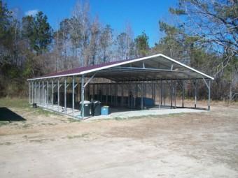 Carport | Vertical Roof | 30W x 41L x 6H Triple-Wide