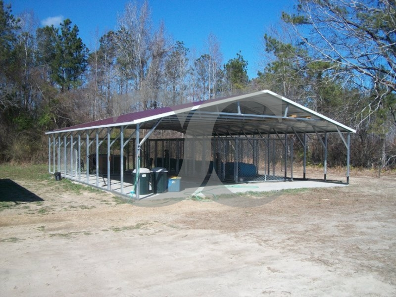 Carport | Vertical Roof | 30W x 41L x 6H | Triple-Wide