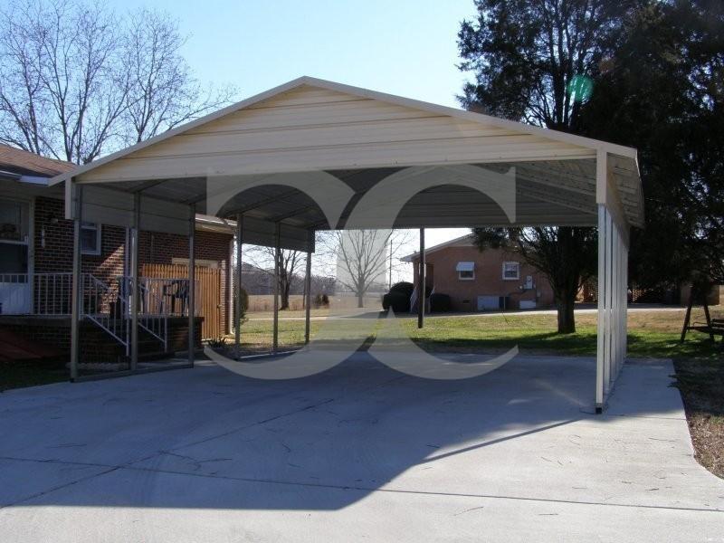 Metal Carport Panels : Carport boxed eave roof w l h gables