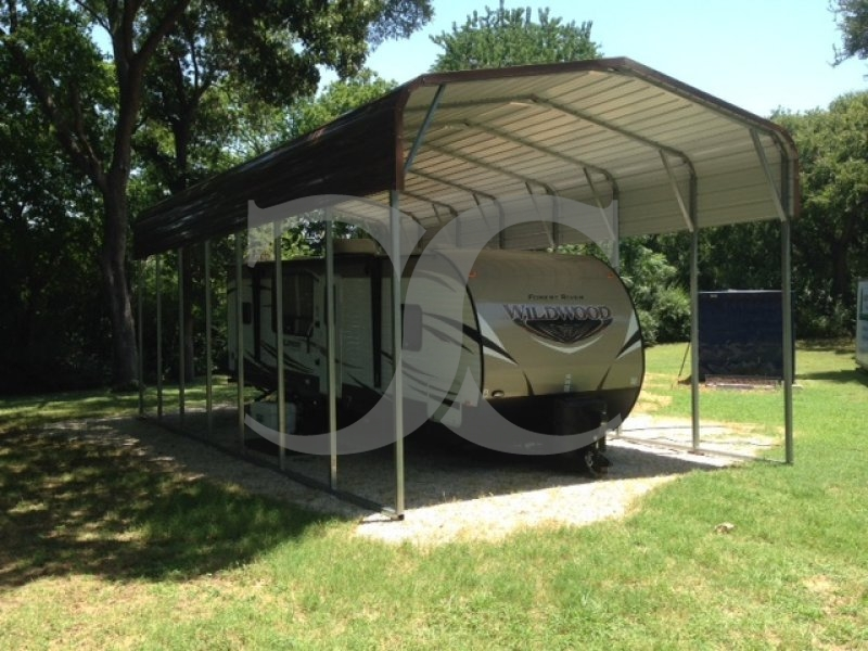 Rv Carport Dimensions : Carport regular roof w l h metal rv camper