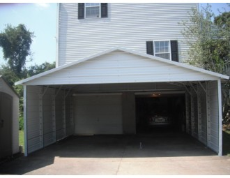 Carport | Boxed Eave Roof | 20W x 21L x 7H