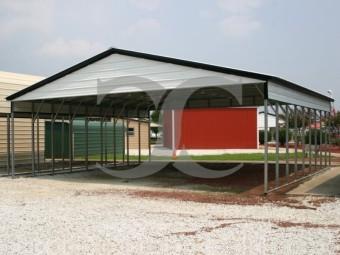 Carport | Vertical Roof | 30W x 36L x 8H Triple-Wide Shelter