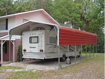 Carport | Regular Roof | 12W x 36L x 8H | RV Carport Covers