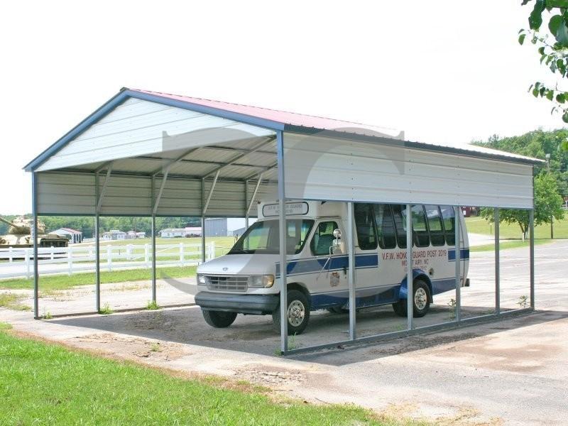 Vertical Roof Carport : Carport vertical roof w l h
