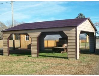 Carport | Boxed Eave Roof | 24W x 26L x 9H` | Pavilion Carport