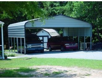 Carport   Regular Roof   24W x 26L x 9H`   2 Panels   2 Gables  