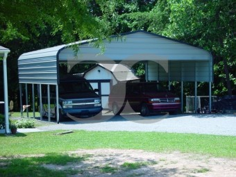Carport | Regular Roof | 24W x 26L x 9H` | 2 Panels | 2 Gables |