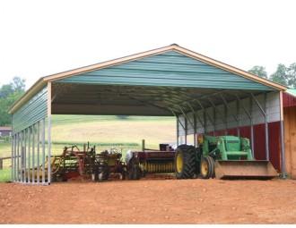Carport | Vertical Roof | 30W x 36L x 8H Triple-Wide