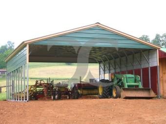 Carport   Vertical Roof   30W x 36L x 8H Triple-Wide