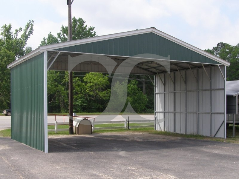 Carport | Vertical Roof | 30W x 21L x 10H | Triple-Wide