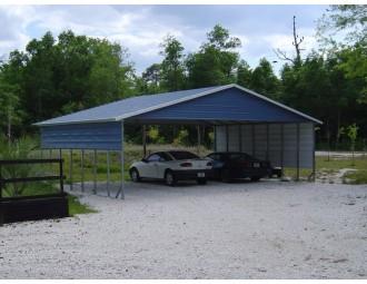 Carport | Boxed Eave Roof | 30W x 26L x 8H Triple-Wide