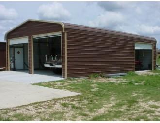 Garage   Regular Roof   22W x 31L x 8H    2-Car Metal Garage