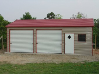 Garage | Boxed Eave Roof | 22W x 36L x 9H |  Side Entry Garage