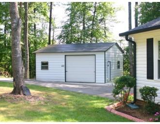 Garage | Boxed Eave Roof | 20W x 26L x 9H |  Side Entry Garage