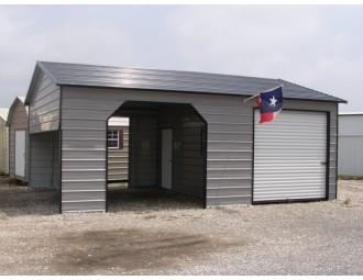 Garage | Boxed Eave Roof | 22W x 31L x 9H |  Metal Garage Shelter