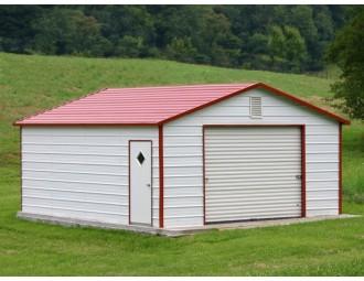 Garage | Boxed Eave Roof | 12W x 21L x 7H |  Backyard Garage