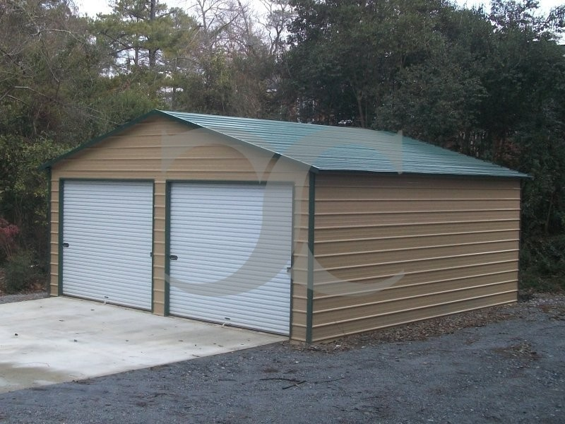 Garage Boxed Eave Roof 24w X 26l X 10h Side Entry