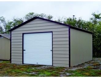 Garage   Boxed Eave Roof   18W x 26L x 9H    1-Car Metal Garage