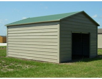 Garage | Boxed Eave Roof | 12W x 21L x 10H |  One Car Garage