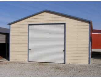 Garage   Boxed Eave Roof   20W x 21L x 10H   Enclosed Garage