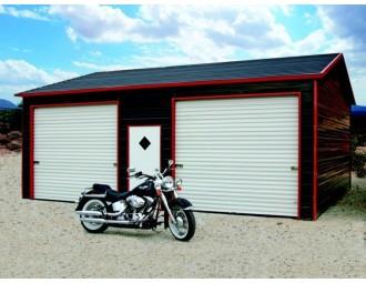 Garage | Boxed Eave Roof | 22W x 26L x 9H | Side Entry Garage