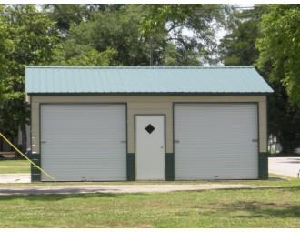 Garage | Vertical Roof | 24W x 26L x 9H | Side Entry Garage