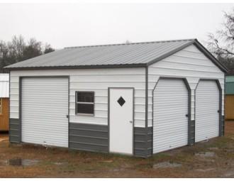 Garage | Vertical Roof | 22W x 21L x 9H | Metal Garage