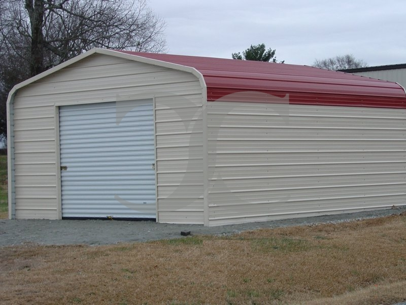 Garage   Regular Roof   12W x 21L x 8H   Single Car Garage