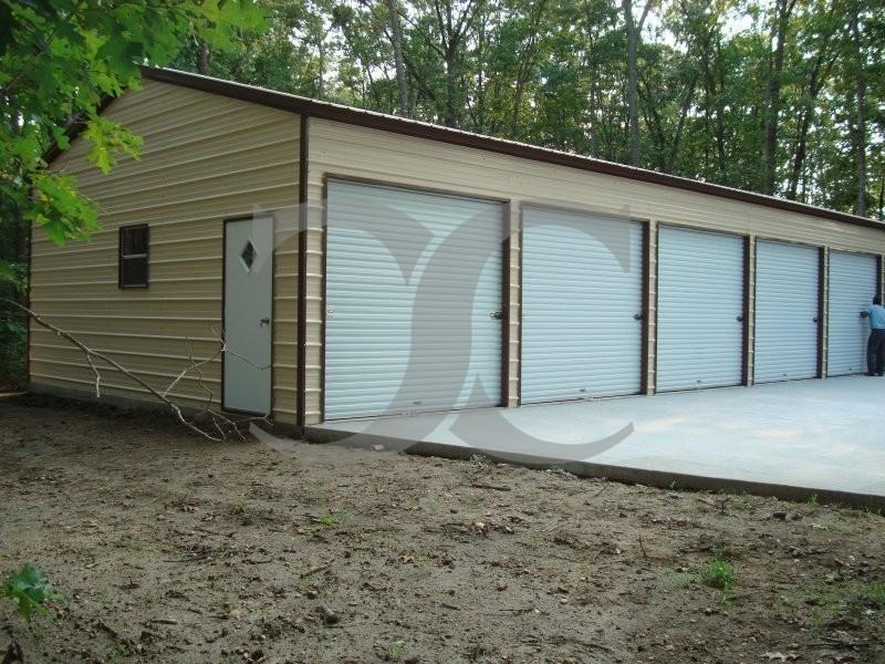 Enclosed Carport Metal Building : Enclosed steel building vertical roof w l h