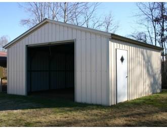 Garage | Vertical Roof | 18W x 21L x 7H |  Single Car