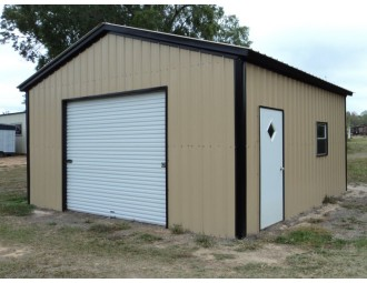 Garage | Vertical Roof | 18W x 21L x 9H | 1-Car Garage