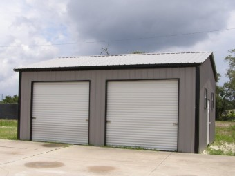 Metal Garage | Vertical Roof | 22W x 26L x 10H |  Side-Entry