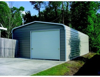 Garage | Regular Roof | 20W x 31L x 10H |  Enclosed Metal Garage