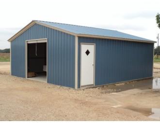 Single Car Garage | Vertical Roof | 20W x 26L x 7 | All Vertical