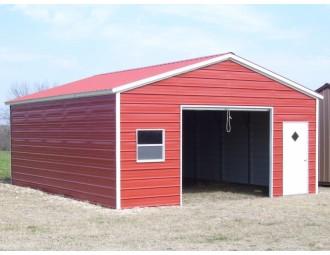 Garage   Vertical Roof   20W x 26L x 8H    Single Car Garage