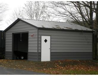 Backyard Storage Garage   Vertical Roof   18W x 21L x 8H    Metal Storage