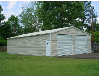 Engineered Steel Building   Vertical Roof   30W x 41L x 10H    All Steel