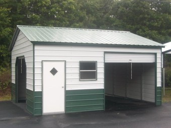 Storage Building | Vertical Roof | 22W x 21L x 9H | Metal Building