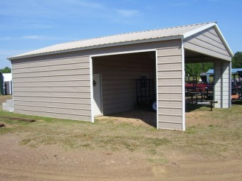 Custom Storage Garage | Vertical Roof | 24W x 31L x 10H | Metal Garage