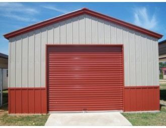 Deluxe All Vertical Garage | Vertical Roof | 18W x 21L x 9H | 1-Car Garage