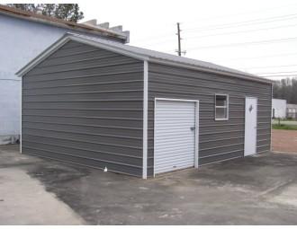 Metal Garage | Vertical Roof | 20W x 26L x 8H |  Metal Building