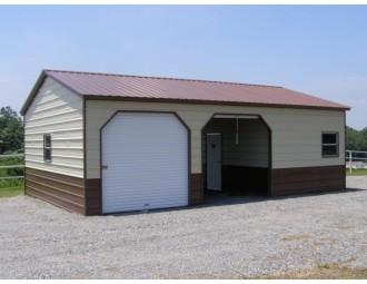 Steel Garage | Vertical Roof | 24W x 41L x 9H | Workshop