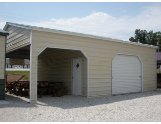 Metal Utility Garage | Vertical Roof | 22W x 31L x 10H | Storage Garage