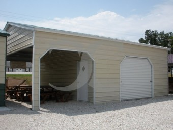 Metal Utility Garage | Vertical Roof | 22W x 31L x 10H | Storage Garage